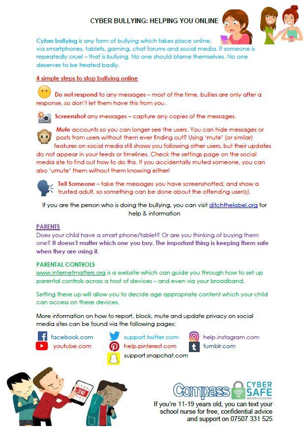 Cyber Safe Warwickshire - Cyber Bullying