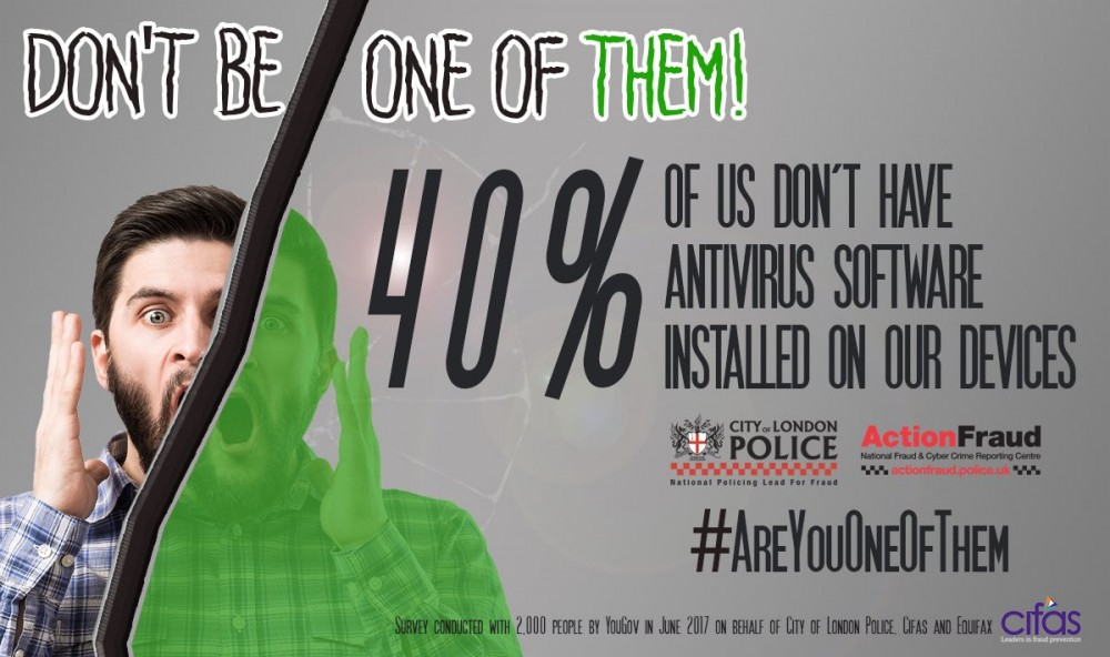40% of UK residents report to not having anti-virus on their devices